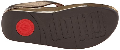 FitFlop Cha Cha, Sandales Bout ouvert Femme Bronze