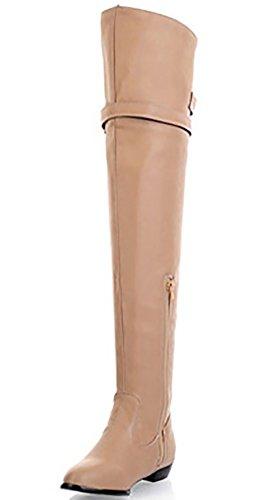 Odema Women's Caldo Inverno Scarpe a punta sopra il ginocchio