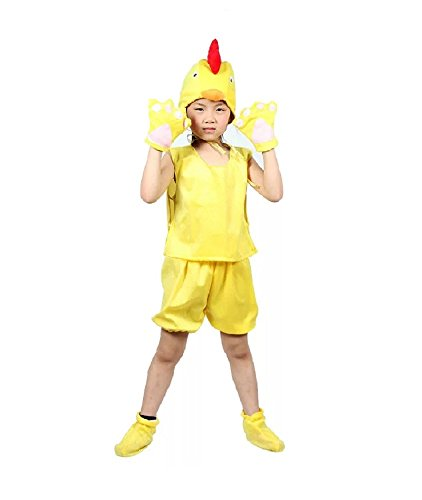 MATISSA Kids Sleeveless Animal Costumes Children's Summer Fancy Dress Party Pajama Cosplay (L (For kids 105-120 cm tall), Chicken) (Party Animal Fancy Dress Kostüm)