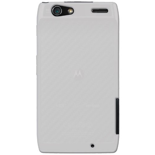 Amzer Silikon-Schutzhülle für Motorola RAZR XT910, weiß durchsichtig