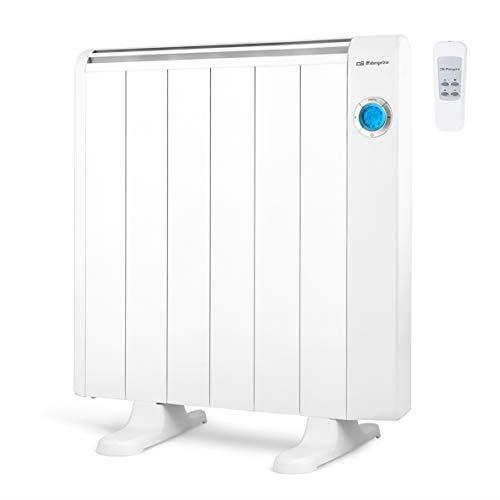Orbegozo RRE 1010 Emisor Térmico Bajo Consumo, 6 Elementos de Calor, Pantalla Digital LCD,...