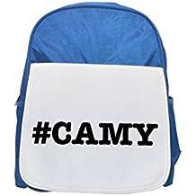 nicknames CAMY nickname Hashtag printed kid's blue backpack, Cute backpacks, cute small backpacks, cute black backpack, cool black backpack, fashion backpacks, large fashion backpacks, black fashion b