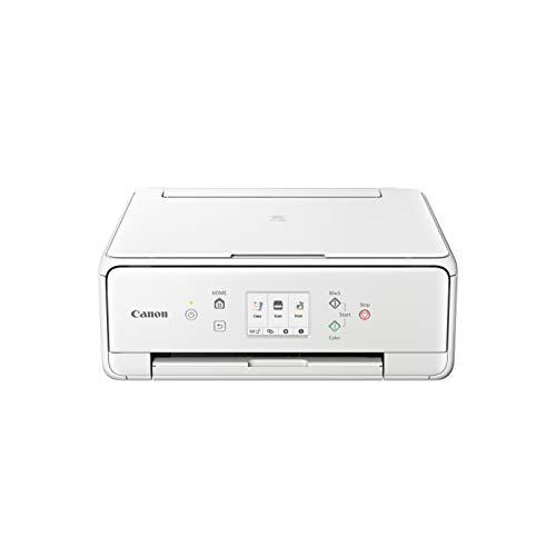 Canon PIXMA TS6251 Farbtintenstrahl-Multifunktionsgerät (Drucken, Scannen, Kopieren, WLAN, Print App, automatischer Duplexdruck, 2 Papierzuführungen, 5 Separate Tinten) Weiss
