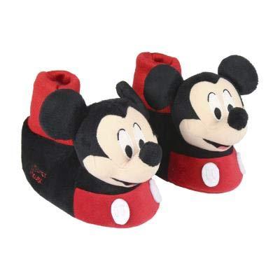 Cerdá zapatillas de casa 3d mickey, pantofole bambino, nero (negro c02), 27/28 eu