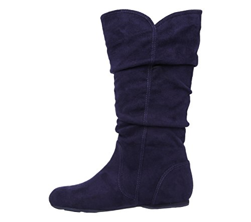Skechers Tini, Boots fille Bleu Marine