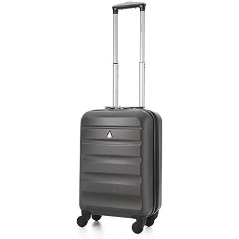 Aerolite ABS trolley bagaglio a mano valigia rigida con 4