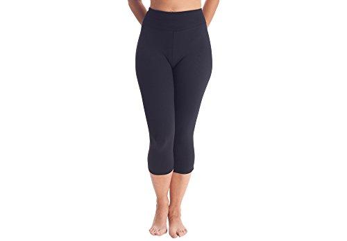 appleskin 2145 - Pantalón Pirata anticelulítico con microcápsulas para Mujer, Color Negro, Talla XL
