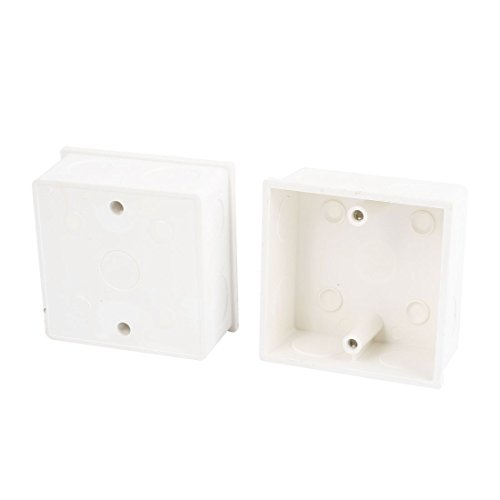 2Stück 86x 86x 43mm PVC-Oberfläche Mount Single Gang Unterputzdose Gerätedose mit einfachgehäuse