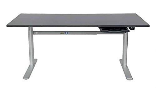 Höhenverstellbarer Schreibtisch in Anthrazit Ergonomisch Elektrisch B 180 cm x T 80 cm Bürotisch Arbeitstisch - 3