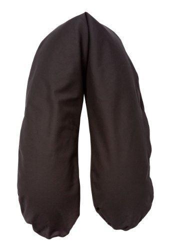 Joyfill Stillkissen Waschbarer Bezug für Flexofill Schwangerschaftskissen 190x40cm - 509 uni schwarz
