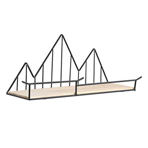 IMIKEYA Wandregal Handwerk Schmiedeeisen Holz Trennwand Regal für Küche Badezimmer -