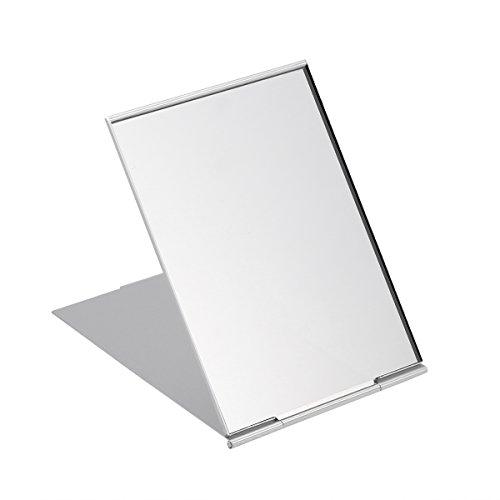 Frcolor Kleine Reise spiegeln Portable Faltung Spiegel kompakte Taschenspiegel für Camping rasieren und Make-up Silber