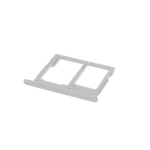JBTec® Micro SD / SIM Tray zu Samsung Galaxy A3 2016 / SM-A310, A5 2016 / SM-A510, A7 2016 Duos / SM-A710 - Slot GSM-Karten-Schlitten/Halter, Farbe:Silber