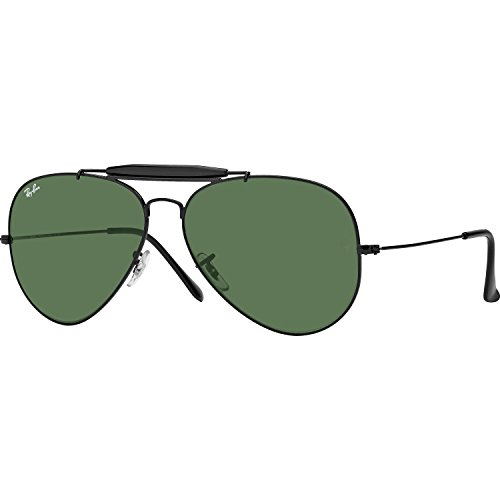 Ray Ban Outdoorsman II (RB3029) Arista/Crystal Green G40 Sunglasses (RB3029-L2114-62-00-140)