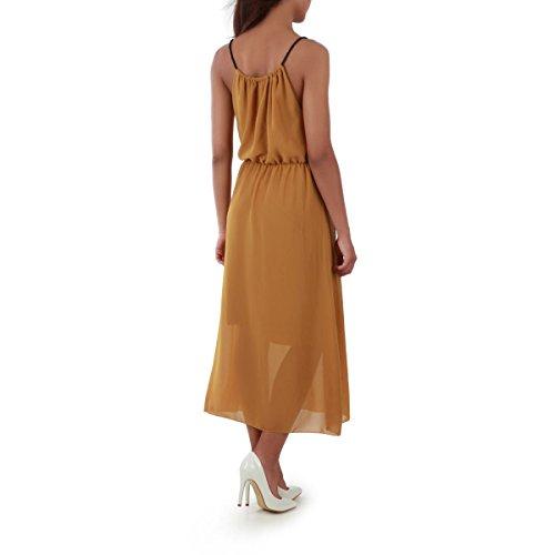 La Modeuse - Robe longue sans manches Jaune