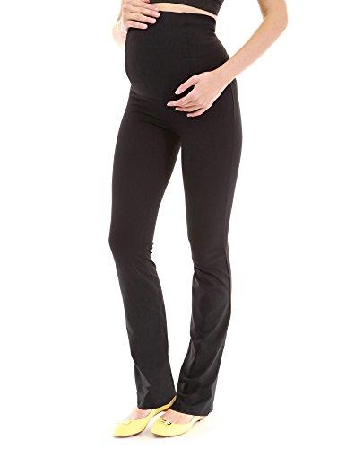 Mutterschaft Stretch Hose (PattyBoutik Mama Mutterschaft gerade Hosen (schwarz M 40 Große))