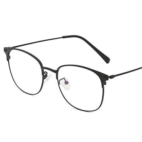 Yiph-Sunglass Sonnenbrillen Mode Retro Metal Box Frames Flache helle LUE Shading-Gläser für Männer und Frauen für Studenten/Büroangestellter