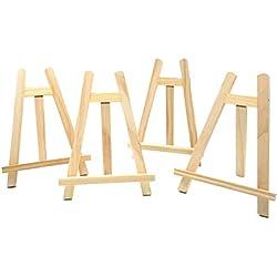 JZK® 4 x Support de chevalet d'affichage en Bois de Table pour A3 A4 A5 A6 Tableau de Mariage Affiche de Mariage Affiche Anniversaire Photo de fête Photo de Note Papier Support de Papier