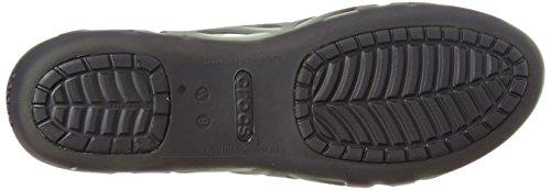 Crocs Adrina Iii Peep Toe Flat Black/black