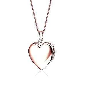Belons Roségold Blau Titanstahl Epoxy Foto Medaillon Amulett Öffenbar Herz Anhänger Halskette Kette mit Anhänger