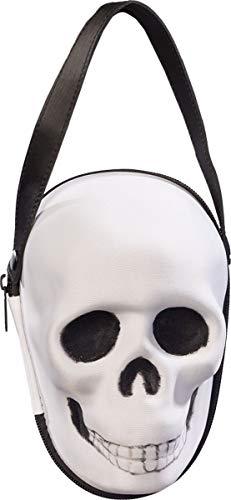 Orlob Fasching Damen Handtasche Totenkopf schwarz-weiß Kostüm-Zubehör Halloween Karneval schauriges Accessoires