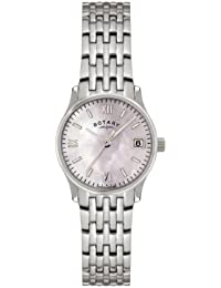 Rotary Women's Quartz Watch with Mother of Pearl Dial Analogue Display and Silver Stainless Steel Bracelet LB00792/07