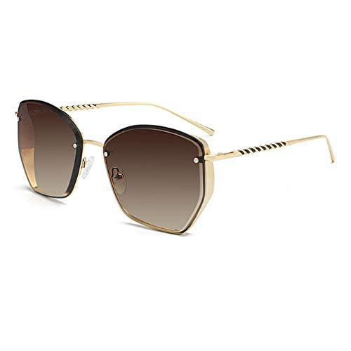 Kjwsbb Dame Square Sunglasses Women Vintage Oversized Gradient Sonnenbrille für Frauen