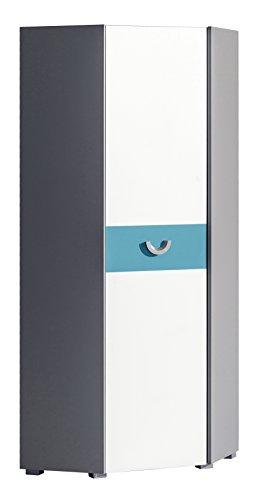 Smartbett - armadio angolare futuro con 1 anta, colori assortiti