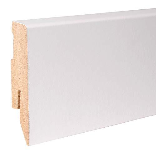 50m Sockelleisten 60mm All Inclusive Paket Weiß -