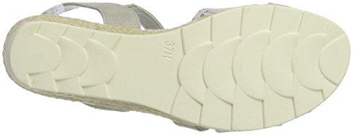 Softline Damen 28363 Offene Sandalen mit Keilabsatz Braun (FLOWER COMB. 908)
