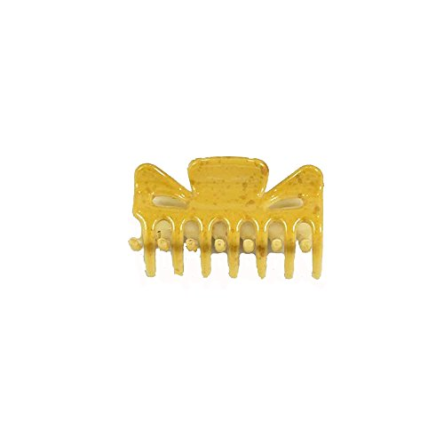 Pince Crabe A Cheveux - Plastique 6 cm - Vert Moucheté - Accessoire Coiffure