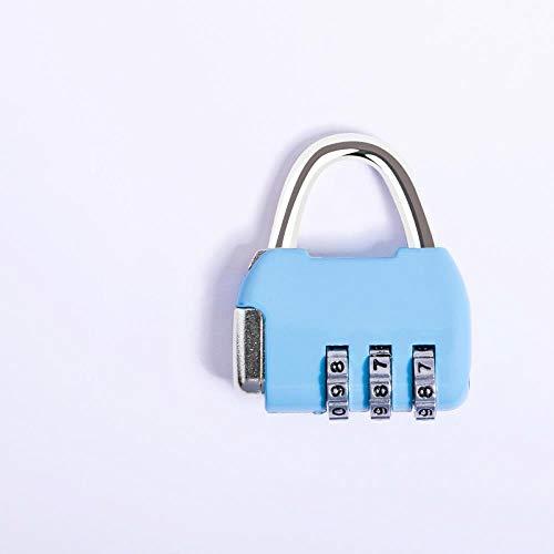 Studentenwohnheimschließfächer mit kleinen Passwörtern, Kommoden, Geschenkboxen, Rucksäcken, Mini-Turnhallenschlössern, himmelblau (Kommode Gepäck)