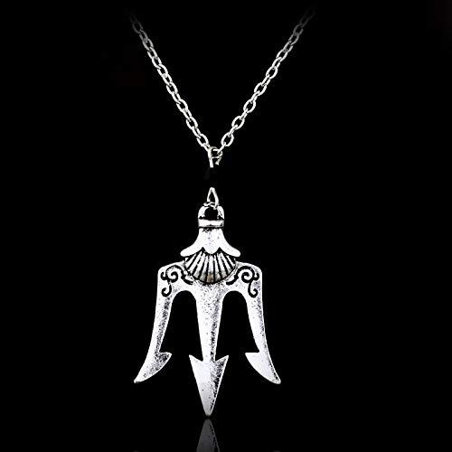Beliebte Film Percy Jackson Lightning Thief Halskette Poseidon Trident Griechischen Gott Meer Mount Olympus Anhänger Mode Zubehör