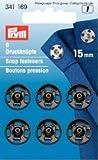 Prym 15mm Druckknöpfe zum Aufnähen, 6Stück, Messing, schwarz