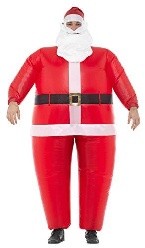 Aufblasbare Weihnachtsmann Anzug - Smiffys Herren Aufblasbares Weihnachtsmann Kostüm, Ganzkörper