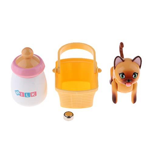 perfk Interaktiver Elektronische Haustier Niedlichen Roboter Welpen Katze Baby Kleinkind Kinder Mädchen Spielzeug - Farbe 4 , Kleinkind, Katze
