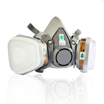 atoz prime 6200 N95 Double Gas Protection Filter Chemical Respirator Mask (Multicolour)
