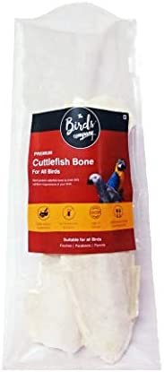 The Birds Company Cuttlefish Bone, Bird Calcium for Finches, Budgies, Conures, Lovebirds, Cockatiels, African