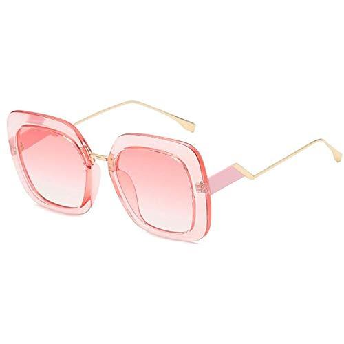 YLNJYJ Designer-Sommer-Modische Quadratische Rahmen-Sonnenbrille-Frauen-Berühmte Italienische Marken-Brillen-Schwarze Kristallelegante Große Gläser