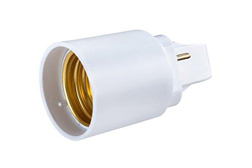 G24-led (G24-D 2-Pin Adapter auf E27 Schraubgewinde für LED Leuchtmittel Converter - Gesamtlänge: 58mm, G24-Sockellänge: 22mm, Schaftlänge: 42mm, Durchmesser: 37mm)