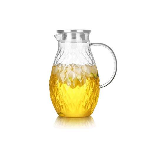 SCJ Kaltwasserkocher, 1,8 l mit großem Fassungsvermögen, Diamantoberfläche, Sekt, Zweiwege-Wasserauslass, hohe Temperaturbeständigkeit, hartes Borosilikatglas, 4 Tassen (Sekt Mit Fruchtsaft)