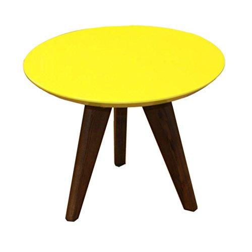 Table Basse Grand modèle Trois Pieds Design scandinave Nordique - Jaune 50cm - Root