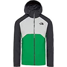 The North Face Stratos Chaqueta, Hombre, Mid gry/Fiery Red/TNF blk