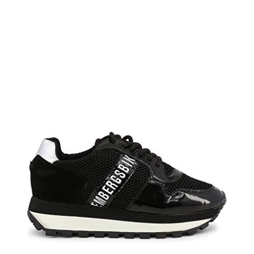 Bikkembergs Scarpe Basse Sneakers Donna Nero (Fend-ER_2087-MESH)
