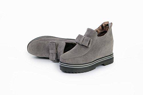 078f32f548da Mee Shoes Damen warm gefüttert Schleife Geschlossen hidden heel Ankle Boots  Grau