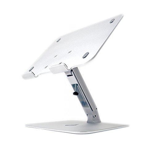 Desire2 Laptopständer für den Schreibtisch, in Winkel und Höhe verstellbarer Aluminiumständer, ergonomischer Ständer für Laptops, Notebooks und Apple Macbooks von 11-17Zoll (28-43cm), verbessert Haltung, Blickwinkel und Höhe