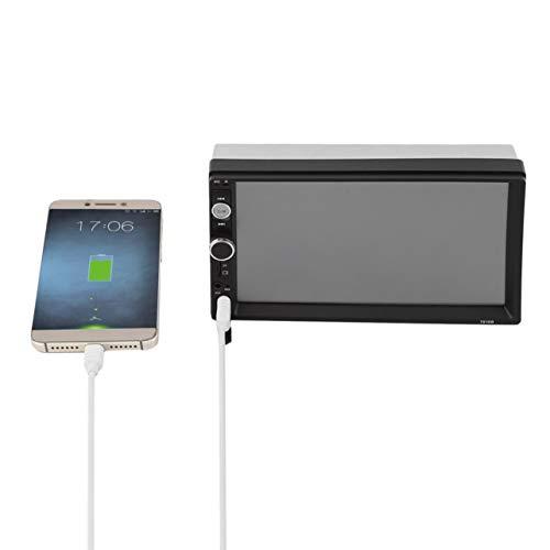 7 Pouces Voiture Lecteur multimédia mp5 Bluetooth FM USB Arriere Support caméra de recul (Couleur: Noir)