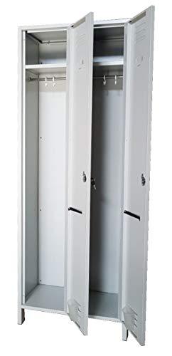 Armadio spogliatoio 2 posti salva spazio profondità 34 dim. 68x34x180h cm