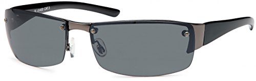 Herren Sonnenbrille Sportbrille Rad Brille Radbrille Sport Nerd Eloxiert