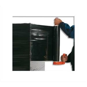 Emballage Stretchfolie 17Mikron / 450mm Anti-UV blickdicht schwarz (Schwarz Opaque Stretch Film)